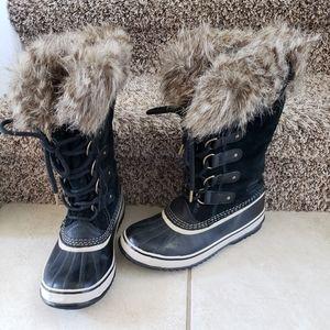 Sorel tall fur waterproof boots size 7.5